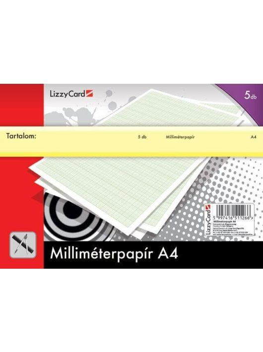 Milliméterpapír A/4, 5db