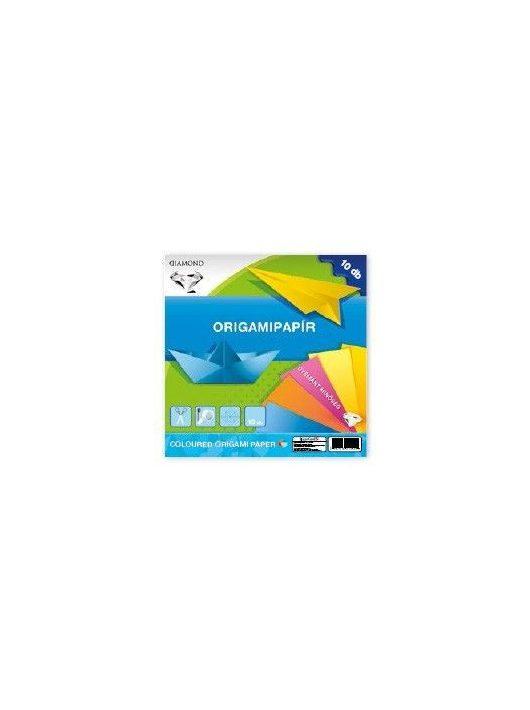 Színes papírok, origami hajtogató lapok 20x20cm, 80g, 10 lap/cs