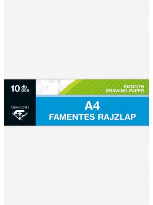 Rajzlap A/4, famentes, 140g, 10 lap/cs