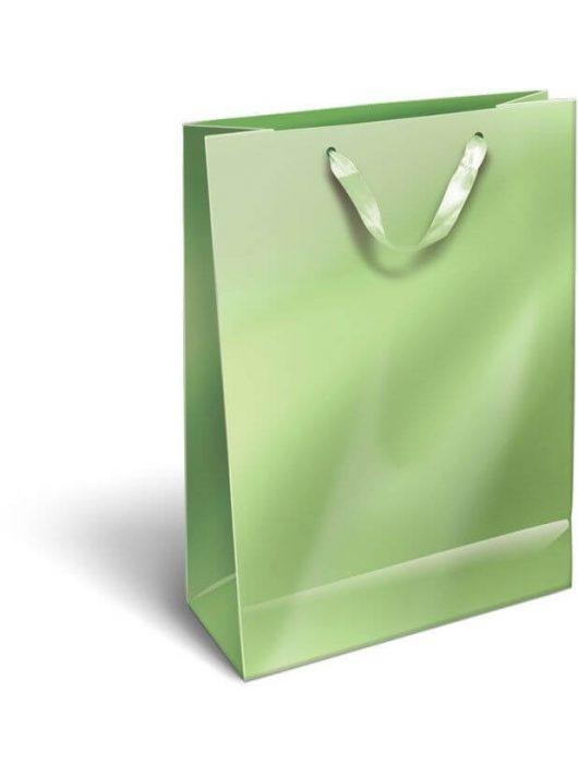Ajándéktáska 32x24x10cm L, szalagfüles, Perlage, Light Green, zöld