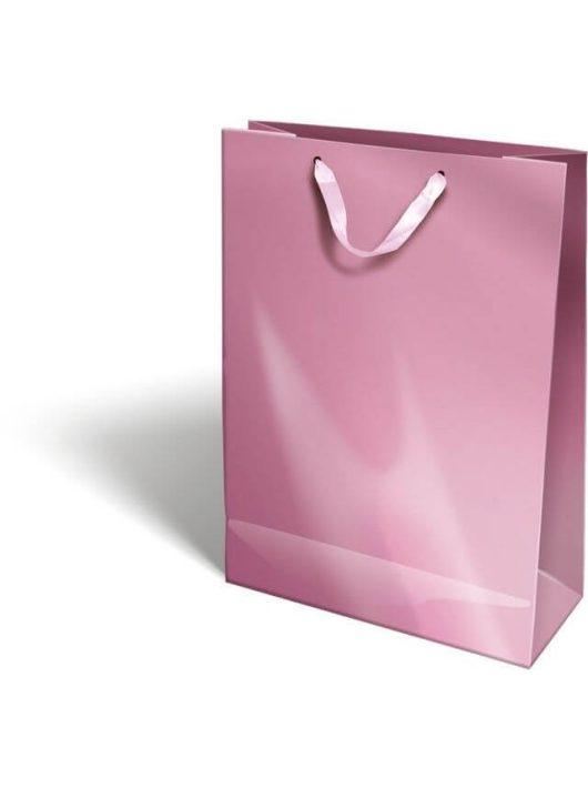 Ajándéktáska 38x28x12cm XL, szalagfüles, Perlage, Pink