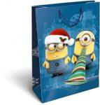 Karácsonyi ajándéktáska 32x24x10cm GSL Minions Funny
