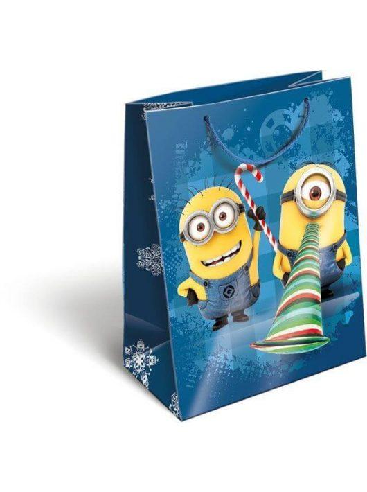Karácsonyi ajándéktáska 23x18x9cm GSM Minions Funny