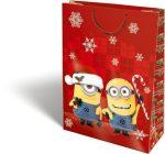 Karácsonyi ajándéktáska 38x28x12cm GSXL Minions Candy