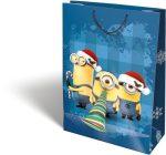 Karácsonyi ajándéktáska 38x28x12cm GSXL Minions Funny