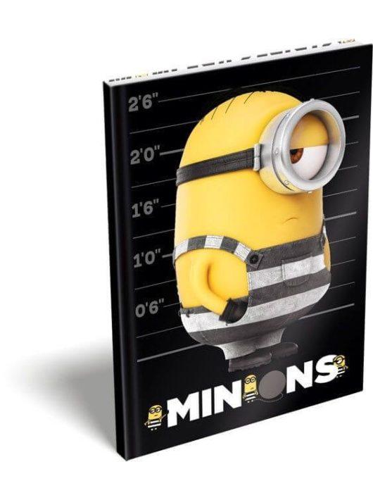 Minions, Minyonok napló, keményfedeles notesz A/5, Stripe