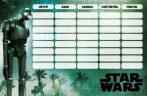 Star Wars órarend nagy 238x155mm, kétoldalas, Rogue One Team