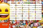 Smiley, emoji órarend nagy 238x155mm Smile