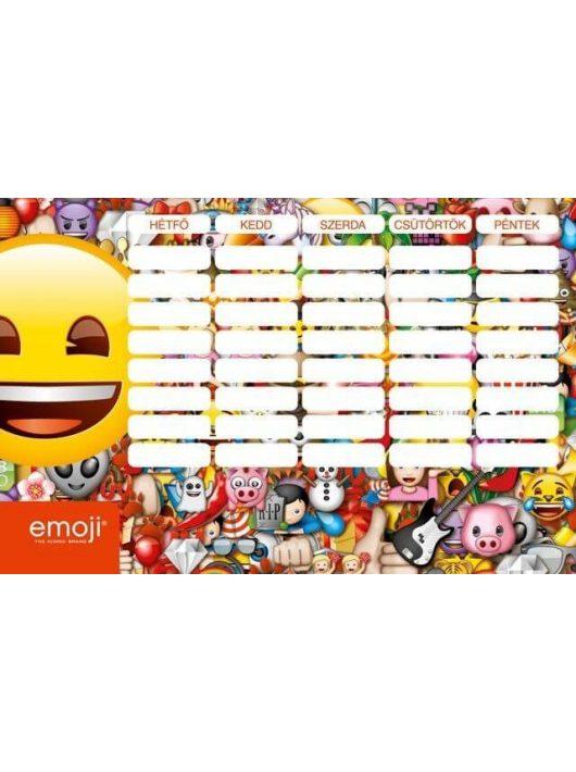 Smiley, emoji órarend nagy 238x155mm, kétoldalas, Smile