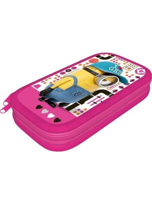 Minions, Minyonok tolltartó, 2 emeletes, üres Pink