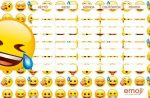 Smiley, emoji órarend 175x115mm LOL