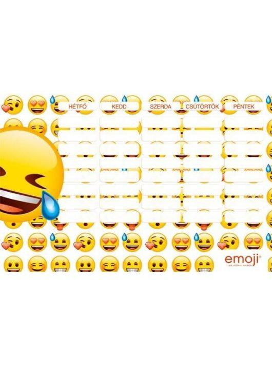 Smiley, emoji órarend 175x115mm, kétoldalas, LOL
