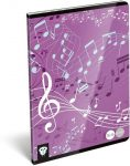 Lizzy Card hangjegy füzet A/5 Music Purple