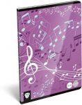 Lizzy Card hangjegy füzet A/5 Music Purple