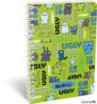 Ugly Dolls spirál füzet A/5 kockás Ugly Dolls Green