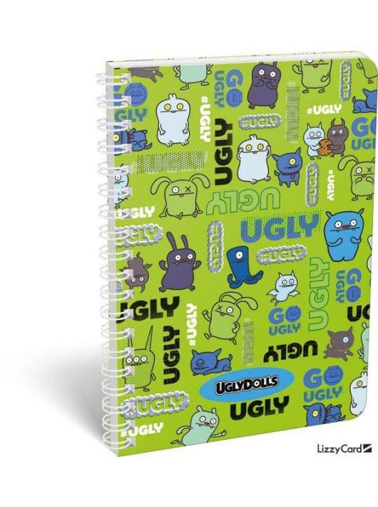 Ugly Dolls spirál füzet A/5, kockás Ugly Dolls Green