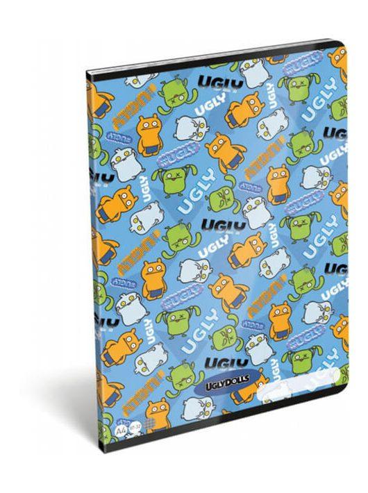 Ugly Dolls tűzött füzet A/4, 32 lap kockás Ugly Dolls Blue
