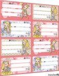 Mimi & Mo füzetcímke íves 8 db/ív Pásztohy Panka Girl