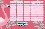 Flamingó órarend nagy 238x155mm Lollipop Flaming-Oh