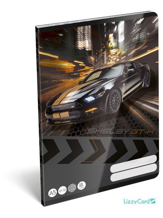 Autós tűzött füzet A/5, 32 lap vonalas 3.osztály (12-32), Ford Shelby GT-H