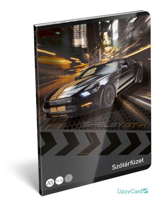 Autós tűzött füzet A/5, 32 lap szótár, Ford Shelby GT-H