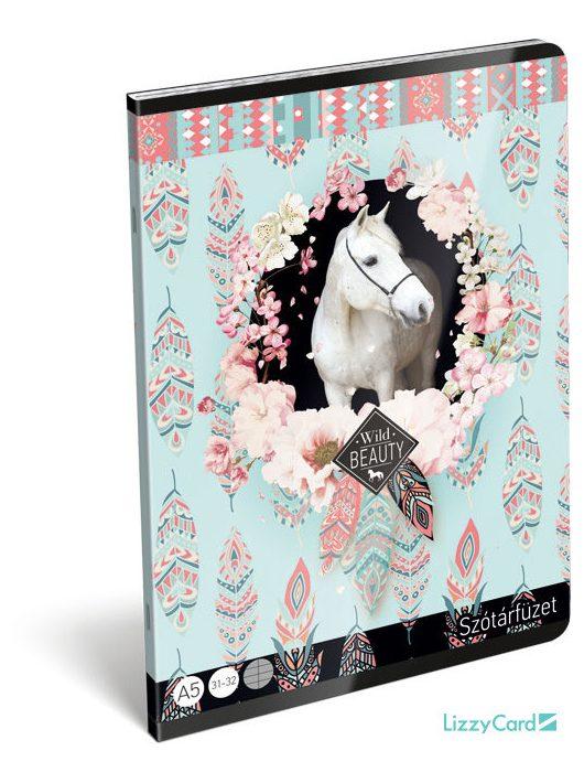 Lovas tűzött füzet A/5, 32 lap szótár, Wild Beauty Rose