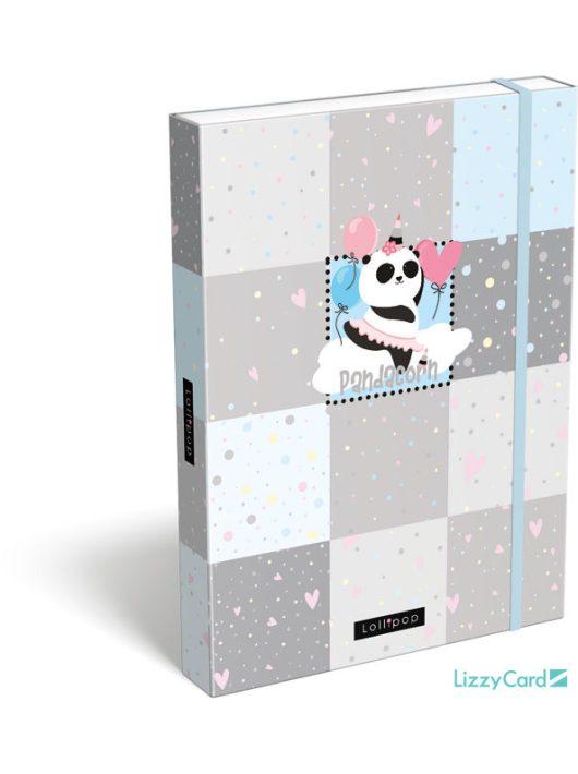 Pandás füzetbox A/4, Lollipop Pandacorn