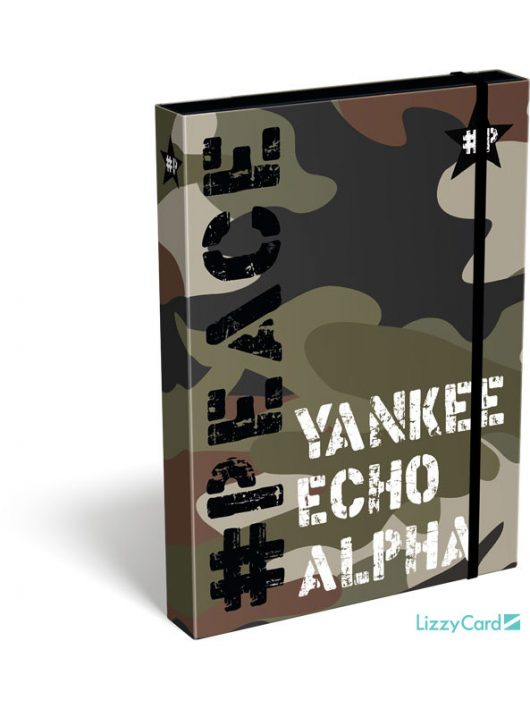 Military füzetbox A/5, #Peace Alpha-Tango-Mike