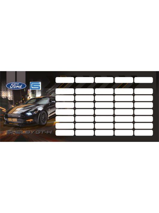Autós órarend mini 77x178mm, kétoldalas, Ford Shelby GT-H