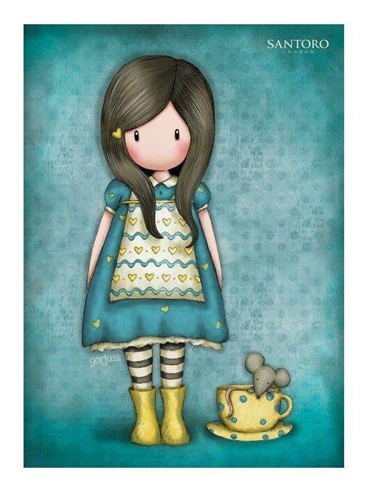 Santoro Gorjuss, üdvözlőlap, képeslap LC6 15x11cm, The Little Friend