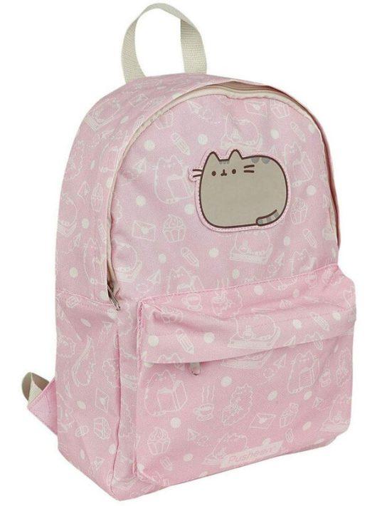 Pusheen cicás hátizsák, 38x32cm, rózsaszín