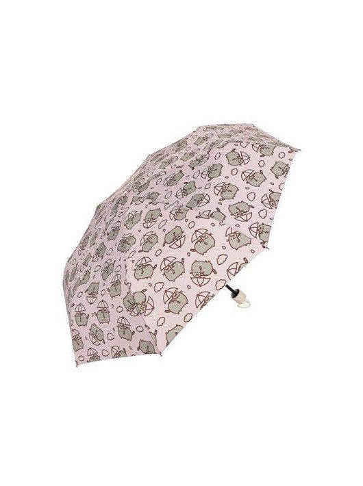 Pusheen cicás esernyő, kicsire összecsukható, 120cm