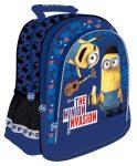 Minion, Minyon hátizsák, iskolatáska 38x29x11cm, kék, The Minion Invasion