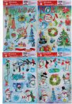 Ablakmatrica, karácsonyi, A/4, hóember, fenyőfa,többféle változat