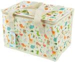 Állatkert mintás uzsonnás táska, hűtőtáska, 29x20x19cm