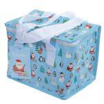 Karácsonyi figurák uzsonnás táska, hűtőtáska, 20x16x14cm