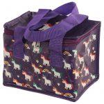 Unikornis uzsonnás táska, hűtőtáska, 21x16x14cm, sötétkék