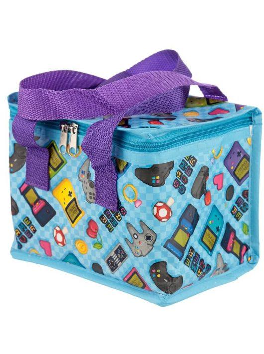 Game Over uzsonnás táska, hűtőtáska, 21x16x14cm