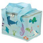 Tengeri állatok uzsonnás táska, hűtőtáska, 21x16x14cm