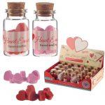 Radír szív, szívek mini, 8db/üveg, kétféle színváltozat