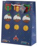 Game Over ajándéktáska, karácsonyi, 33x26x12cm, nagy
