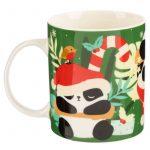 Karácsonyi bögre, kerámia, 280 ml, panda