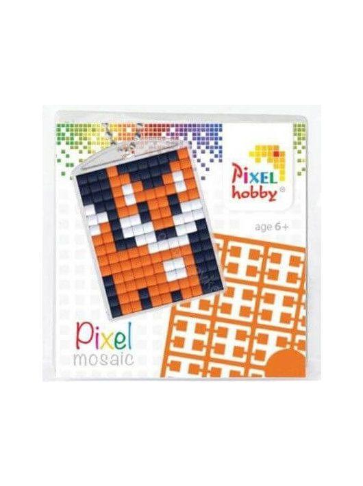 Pixel kulcstartókészítő szett 1 kulcstartó alaplappal, 3 színnel, róka