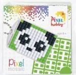 Pixel kulcstartókészítő szett 1 kulcstartó alaplappal, 3 színnel, panda