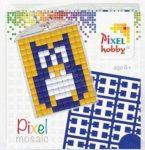 Pixel kulcstartókészítő szett 1 kulcstartó alaplappal, 3 színnel, bagoly