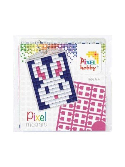 Pixel kulcstartókészítő szett 1 kulcstartó alaplappal, 3 színnel, nyuszi