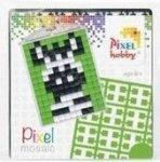 Pixel kulcstartókészítő szett 1 kulcstartó alaplappal, 3 színnel, zebra