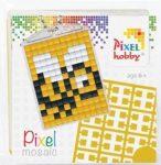 Pixel kulcstartókészítő szett 1 kulcstartó alaplappal, 3 színnel, méhecske