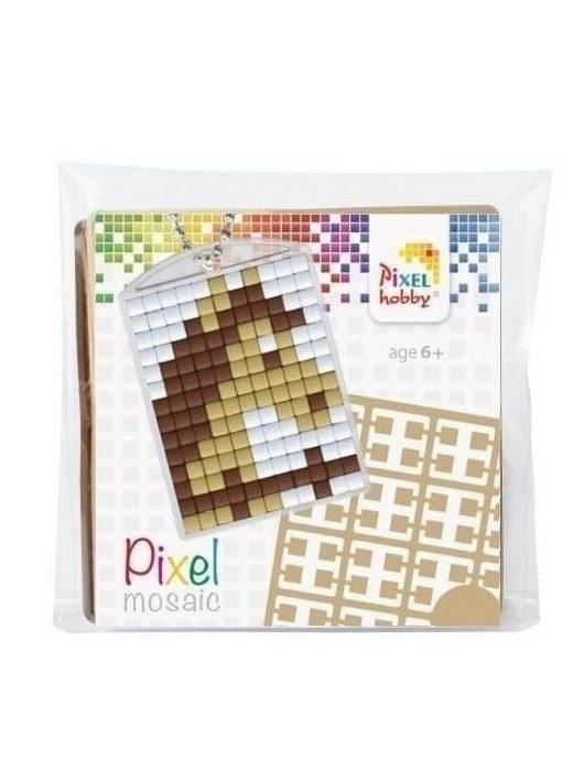 Pixel kulcstartókészítő szett 1 kulcstartó alaplappal, 3 színnel, ló