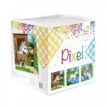 Pixel szett 3 kis alaplappal, 18 színnel, ló